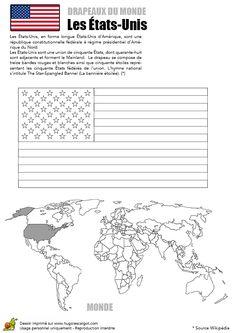 Coloriages Drapeaux du Monde Les Etats-Unis - Hugolescargot.com