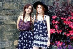 Erin Ferguson and Jenny Cook in original Cosmic Drifters print and garment designs from our A/W16 lookbook..