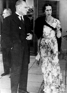 Atatuerk, Kemal - Politician, the then President with the swedish crown princess Lady Louise Mountbatten - Photographer: Alfred Eisenstaedt- property of ullstein bild Get premium, high resolution news photos at Getty Images Princess Louise, Princess Alice, Gustav Adolf, Louise Mountbatten, Stock Pictures, Stock Photos, Turkish Army, The Turk, Fathers Love