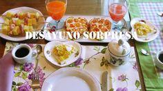 Como hacer un desayuno sorpresa facil salado. How to make a salty surpri...