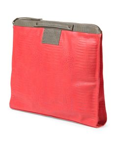 Leather Bankers Clutch