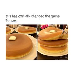 I thought these were just really fat pancakes but it turns out they're filled with syrup. I'm more of a waffle person but this looks pretty good.