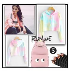 """""""CONTEST - ROMWE (link for contest in description of set)"""" by sennci ❤ liked on Polyvore featuring adidas NEO and Anya Hindmarch"""