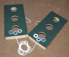 Travel Washers Toss Game - Three Hole Version