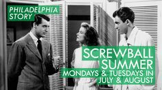 PHILADELPHIA STORY  Mon 8/31 & Tue 9/1 See link for showtimes 75th Anniversary! (1940) dir George Cukor w/Cary Grant, Katherine Hepburn, James Stewart [112 min; 35mm] Hands down one of the funniest and most beloved screwball romantic comedies of all time. The madcap escapade revolves around a tabloid reporter (Stewart) sent to a society wedding who falls for the free-spirited bride (Hepburn) while she contemplates a reunion with an old flame (Grant).