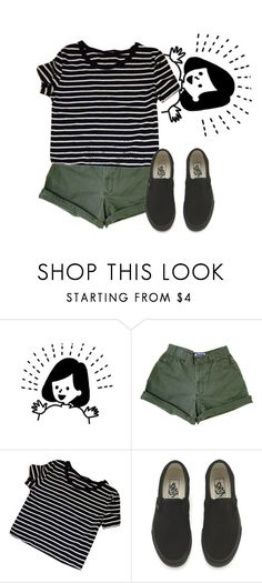 """Stop the world, I'm getting off"" by marleen03 ❤ liked on Polyvore featuring Vans"