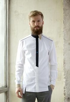Discover new and vintage men's shirts. From vintage denim shirts to festival-ready printed shirts, our boutiques have got loads to choose from. Mens Designer Shirts, Designer Suits For Men, Plain White Shirt, White Shirts, Formal Shirts, Casual Shirts, African Shirts, Men Formal, Men Design