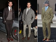 David Gandy Shows Off His Fashion Sense With An Array Outfits During London Collections: Men