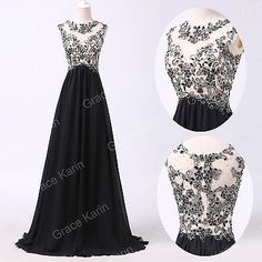 Charming-Applique-Long-Evening-Dress-Party-Formal-Gown-Bridesmaid-Prom-Dresses