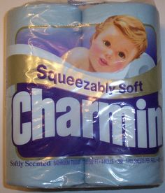 Charmin in colors my grandmas bathroom had the pink and my grandpas the blue.