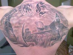 Hooligans - tatuaż Kibica Zagłębia Lubin