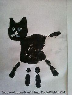 FunThingsToDoWithUrKidz: Black cat hand prints