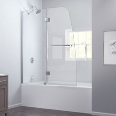 Dreamline Shdr 3734580 01 Aquaswing Tub Door 34 In W X 58 H Clear Gl Chrome Finish Tubs Doors And Bath