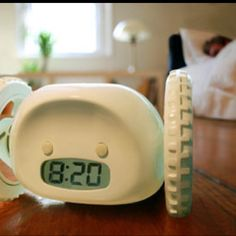 The alarm clock that runs away from you to get your ass outta bed