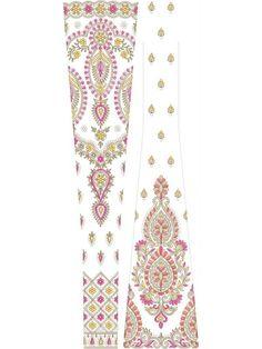 Lehengha – Cording embroidery design (4311) – EmbDisk.com Alpona Design, Tangle Art, Hand Embroidery Designs, Gull, Design Patterns, Mandala Art, Floral Tie, Fabrics, India