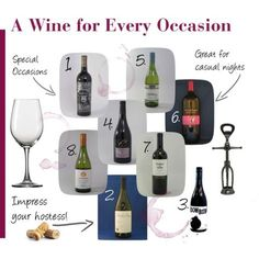 {A Wine for Every Occasion} Is your favorite listed here? I keep reminding my husband that red wine is good for my cholesterol. ;-)