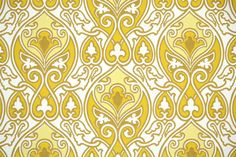 1970's Retro Wallpaper  Vintage Gold and Yellow by RetroWallpaper, $16.00
