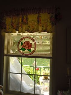 ~LennysRedRose~  stained glass bought at Yellow Daisy festival in stone mountain Ga with Wanda <3