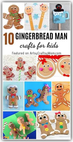 'Tis the season to have fun with the gingerbread man and he's not running away! Celebrate the little guy with some Adorable Gingerbread Man Crafts for Kids! Christmas Crafts To Make, Christmas Activities For Kids, Christmas Projects, Kids Christmas, Gingerbread Man Crafts, How To Make Gingerbread, Lacing Cards, Felt Ornaments, Elementary Art