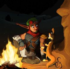 I lack a good name for this but honestly, I just wanted to draw Jak and Daxter hanging out in the desert at night. Hanging Out Dankest Memes, Funny Memes, Hilarious, Jak & Daxter, Max Steel, Epic Games, I Am Game, Edgy Memes, Hanging Out