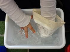 homemade blubber gloves to teach how animals stay warm in cold weather.  perfect for penguins and polar bears!