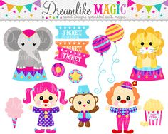Sweet Circus Time- Clipart for Personal or Commercial Use