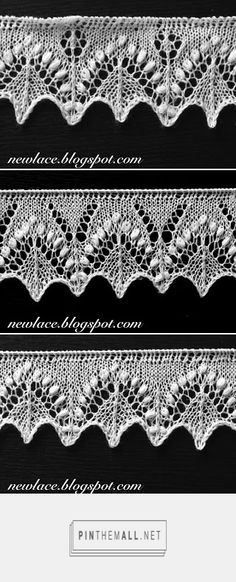 22. Edge lace Silvia (3 variations); downloadable PDF. Wonderful Estonian lace blog (and lots of free patterns).