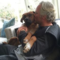 I guess #Flip considers himself a #LapDog, Who else has this happen to them with their dog? #RhodesianRidgeback