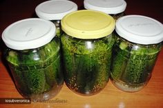 Imagini, Imagine Castraveti Bulgaresti in Otet Cooking Puns, Canning Pickles, No Cook Meals, Cucumber, Mason Jars, Cancer, Ny Times, Preserves, Pickles