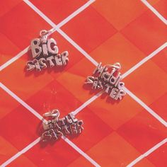 Share a cute sterling silver big sister, middle sister, little sister with your sister.   www.charmfactory.com