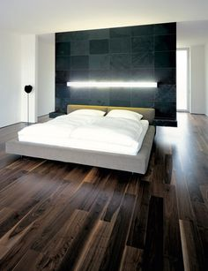 Modern lighting for a modern bedroom. Sometimes the best way to go, is keeping it simple.
