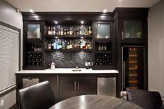 Clean Modern Basement Bar Ideas Bar Design Fascinating Contemporary Bar Ideas For Basement With Dark by cristina Basement Bar Plans, Basement Bar Designs, Modern Basement, Home Bar Designs, Basement Kitchen, Basement Renovations, Basement Ideas, Rustic Basement, Basement Decorating