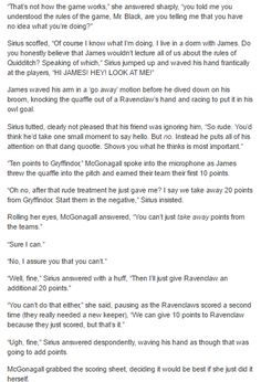The Marauders and McGonagall - Quidditch  part 3/5