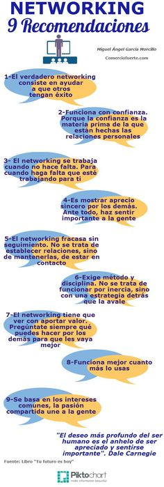Networking: 9 recomendaciones #infografia #infographic #marketing