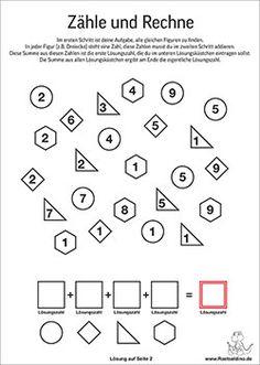 Zahlenrätsel und Matherätsel für Kinder   Raetseldino.de Puzzle, Education, Words, Homeschooling, Learn German, Scavenger Hunt Kids, Math Education, Numeracy, Class Room