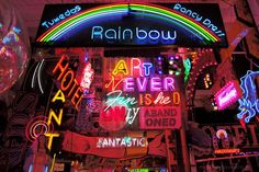 Gods Own Junkyard in London, Walthamstow is a hidden gem, a best kept secret of the city. Explore it and be amazed by its neon signs and enchanted atmosphere.  Won't find it in London guides!