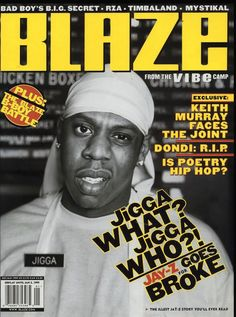 Hip-Hop Wired has assembled every Jay Z magazine cover, ever*. From The Source to Vibe, from Rolling Stone to Spin, to Time and more. Magazine Images, Cool Magazine, Magazine Covers, Vibe Magazine, Music Magazines, Vintage Magazines, John Lennon And Yoko, Rapper Quotes, Music Pics