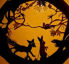 The Hare and Moon. A Shadow Puppet Chinese story.