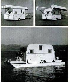 Old School Trailer Floating Pontoon