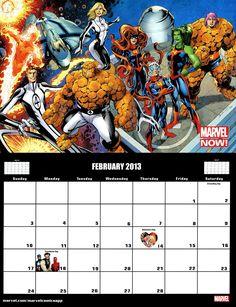 ✭ Marvel 2013 Calendar - February