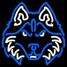 Houston Baptist Huskies Neon Sign 16x16