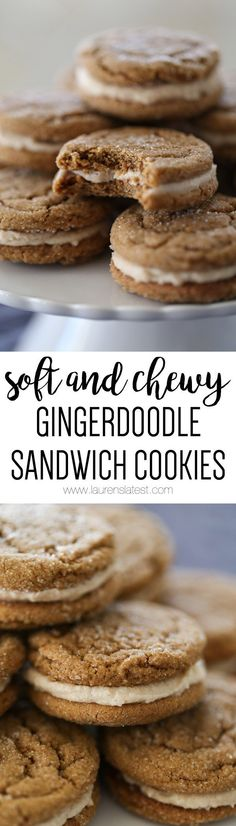 soft and chewy gingerdoodle sandwich cookies.