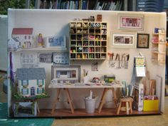 my workroom | I made a picture of my mini room in 1/12 scale… | Flickr
