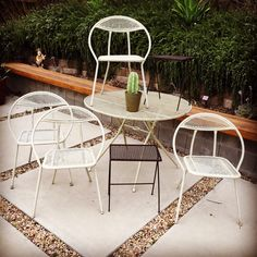Set Of Four Clam Shell Folding Patio Chairs By Salterini   $495 | Dinostaur  At White Elephant Antiques Warehouse | Pinterest | Clam Shells, Patios And  Mid ...