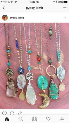 Wire Wrapped Jewelry, Wire Jewelry, Jewelry Crafts, Jewlery, Stone Jewelry, Crystal Jewelry, Diy Necklace, Necklaces, Bracelets