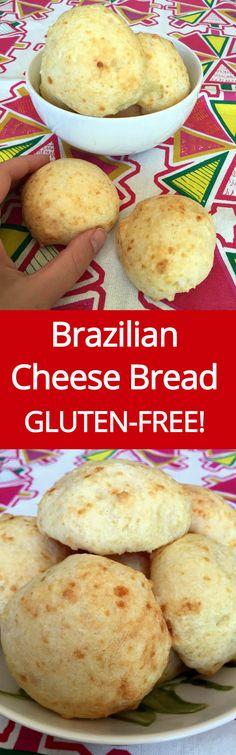 Brazilian Cheese Bread Recipe - Gluten-Free! (Pao De Queijo) | MelanieCooks.com