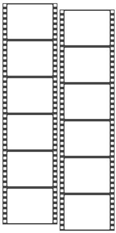 Free film strip templates for your photo collages and for Printable film strip template