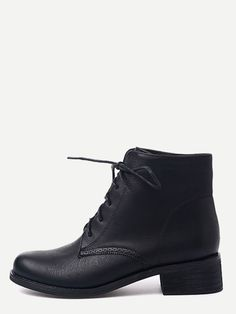 42$  Buy here - http://diqu3.justgood.pw/go.php?t=12212 - Black Distressed PU Lace Up Chunky Booties 42$