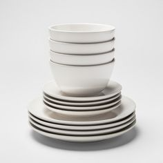 Avesta Stoneware Dinnerware Set White - Project - image 1 of 1 Stoneware Dinnerware Sets, Modern Dinnerware, White Dinnerware, Tableware, Serveware, Magnetic Spice Racks, Target, Dish Sets, Earthenware