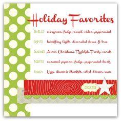 Holiday Favorites//write.click.scrapbook